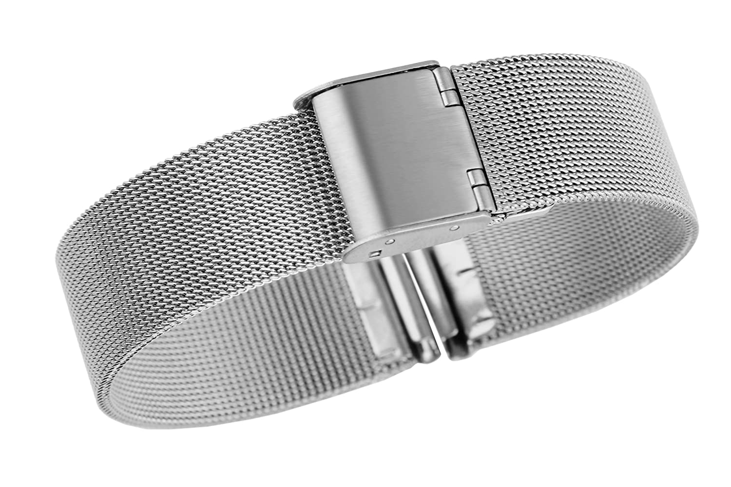 Amazon.com: 18mm Classic High-end Solid Milanese Mesh Metal ...