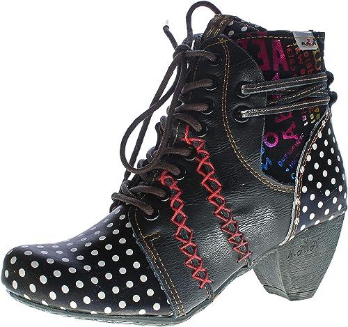 ► TMA BIZARRE 1877 Damen Schuhe /> Leder Stiefeletten Gr 36-42 Mehrere Farben