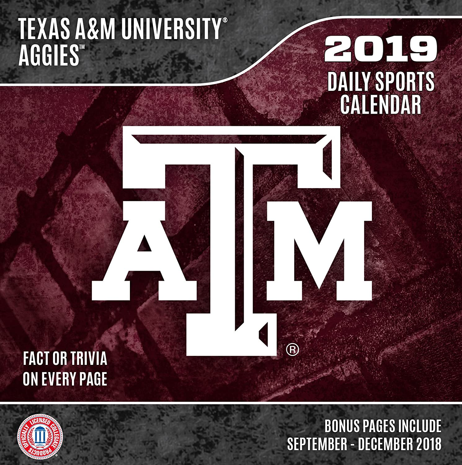 A&M Calendar 2019 Amazon.com: Turner A&M Aggies 2019 Box Desk Calendar (19998051384