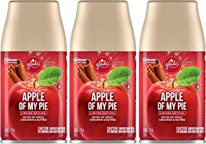 Glade Automatic Spray Refill - Apple of My Pie - Holiday Collection 2020 - Net Wt. 6.2 OZ (175 g) Per Refill Can - Pack of 3 Refill Cans