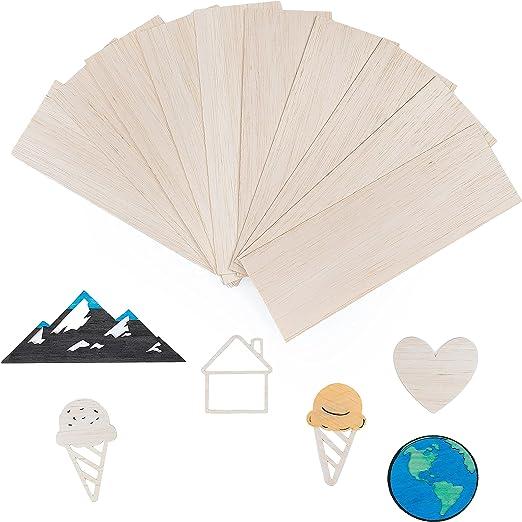 Creative Crafts Balsa 300 x 100 x 1.5mm 1/16 Balsa Wood Sheets Craft Wood 10x Hobby Wood Sheet 1.5mm