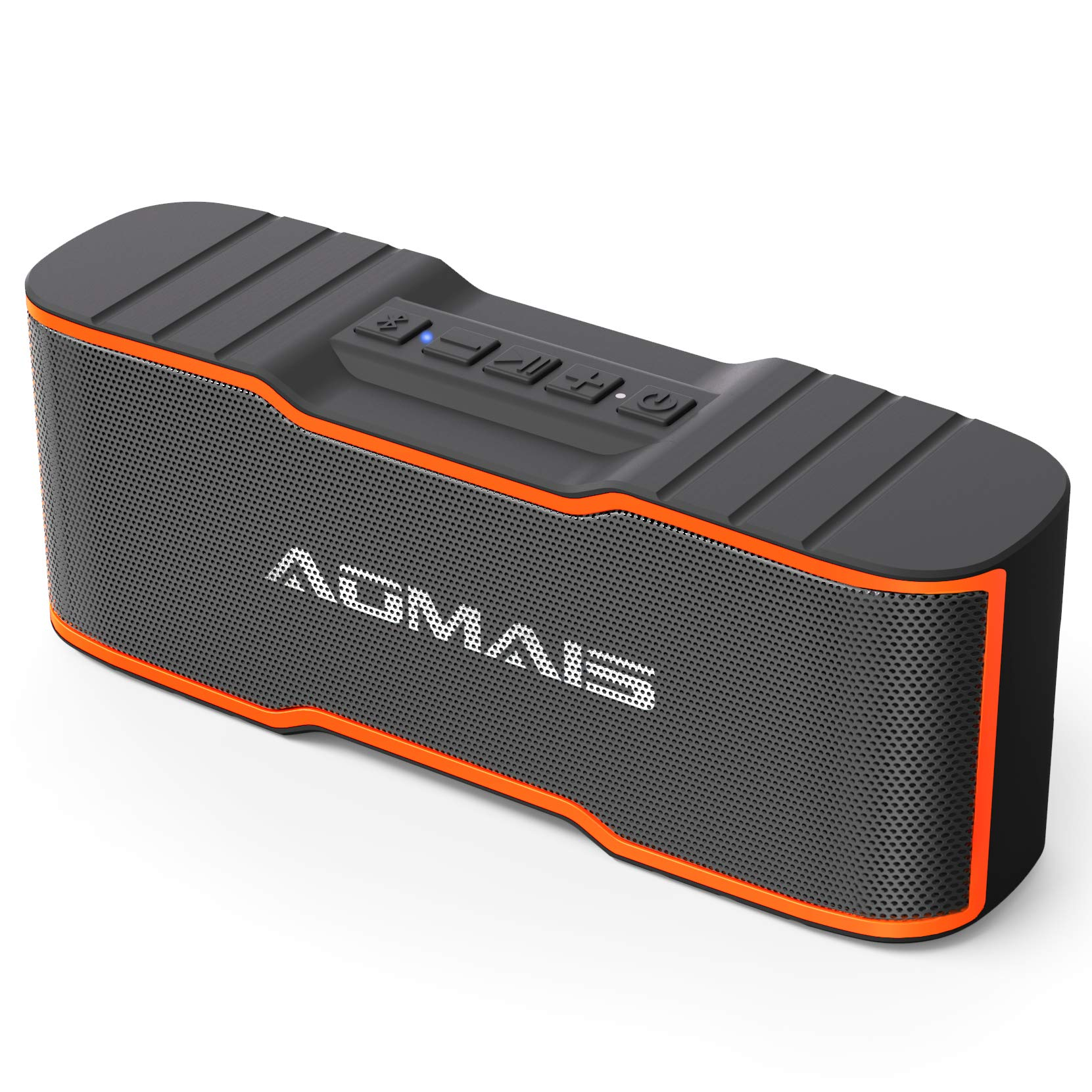 AOMAIS Sport II Mini Portable Bluetooth Speakers with 10W Superior Sound, Built-in Mic, Stereo Pairing, IPX4 Water-Resistant Wireless Speaker for iPhone, iPod, iPad, Tablets, Echo Dot (Orange)