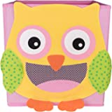 Cute Smiling Owl Collapsible Toy Storage Organizer by Clever Creations | Toy Box Folding Storage Cube for Kids Bedroom | Perfect Size Storage Cube for Books, Kids Toys, Baby Toys, Baby Clothes