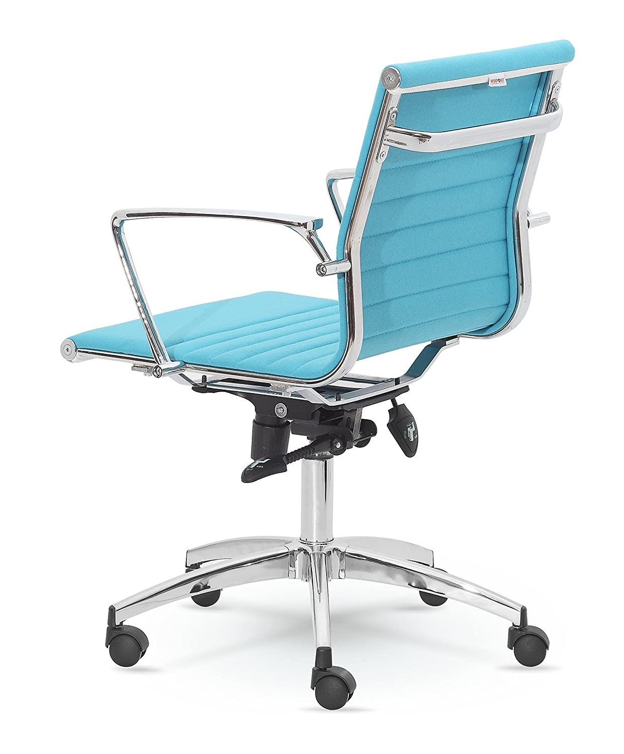 Winport Dynamic Mid-Back Fabric Swivel Conference Chair MZNF9712 Aqua – Blue