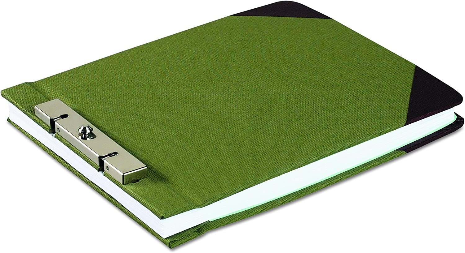 "Wilson Jones Canvas Sectional StoragePost Binder For 8-1/2 X 11 Sheets, 2-3/4"" Post Spacing, Green Canvas, W278-26A"