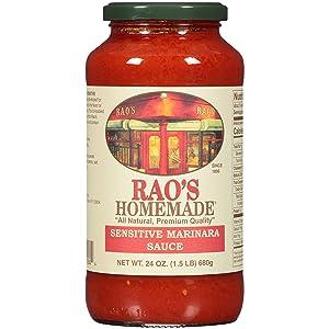 Rao's Homemade Marinara Sensitive Formula Sauce, 24 Oz Jar, 3 Pack