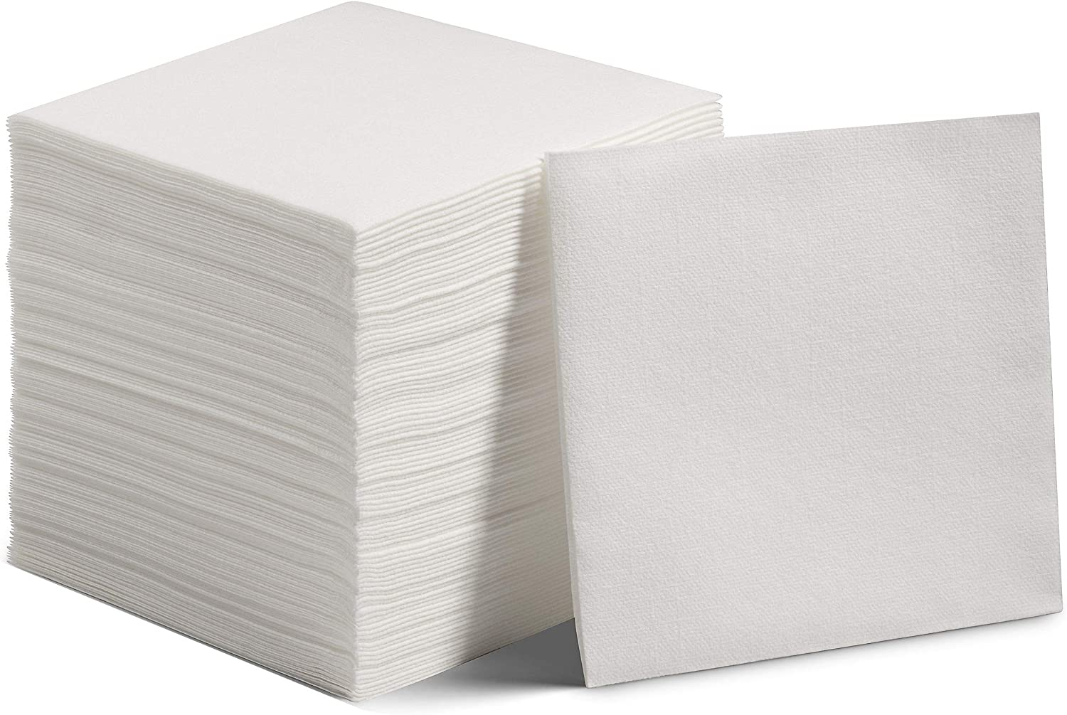 200 Linen-Feel Dessert And Beverage Napkins - Disposable Cloth-Like Cocktail Paper Napkins - Soft and Absorbent For Bar, Restaurant, Café, Wedding, Parties (200-Pack)