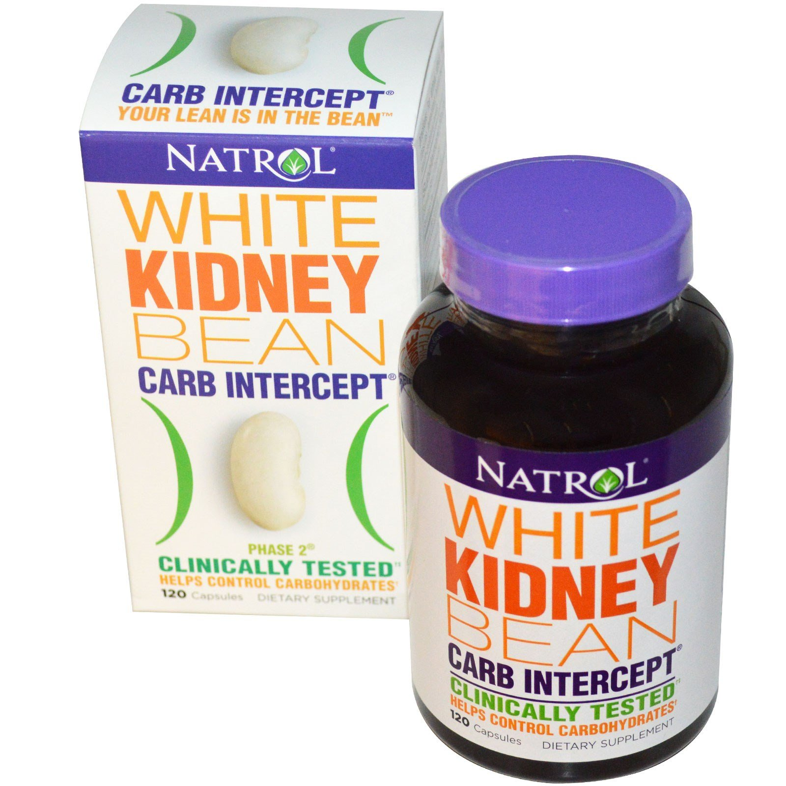 Natrol, Carb Intercept, Phase 2 White Kidney Bean, 120 Capsules - 2pc by  (Image #1)
