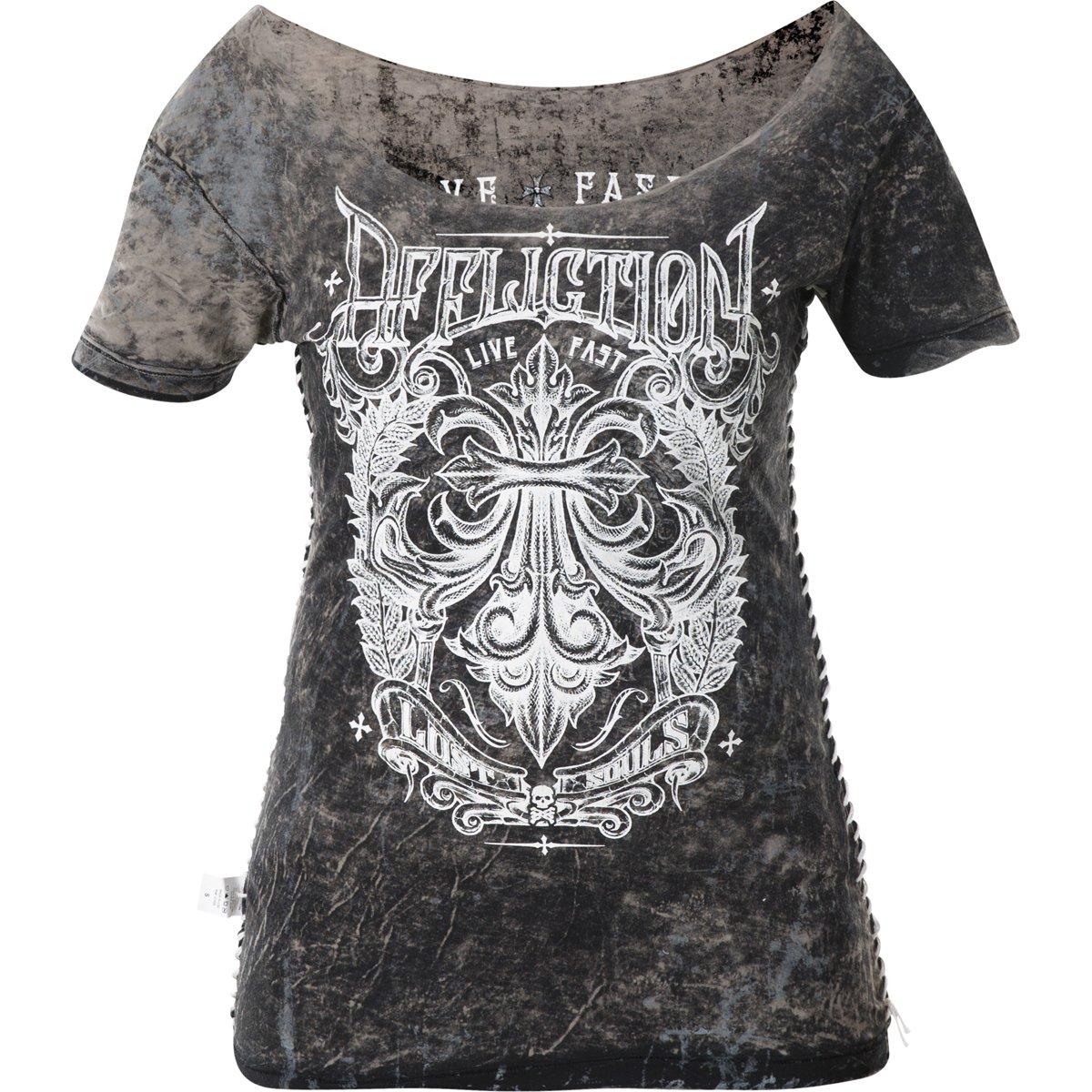 Affliction Mens Secure Measure Rust T-Shirt White