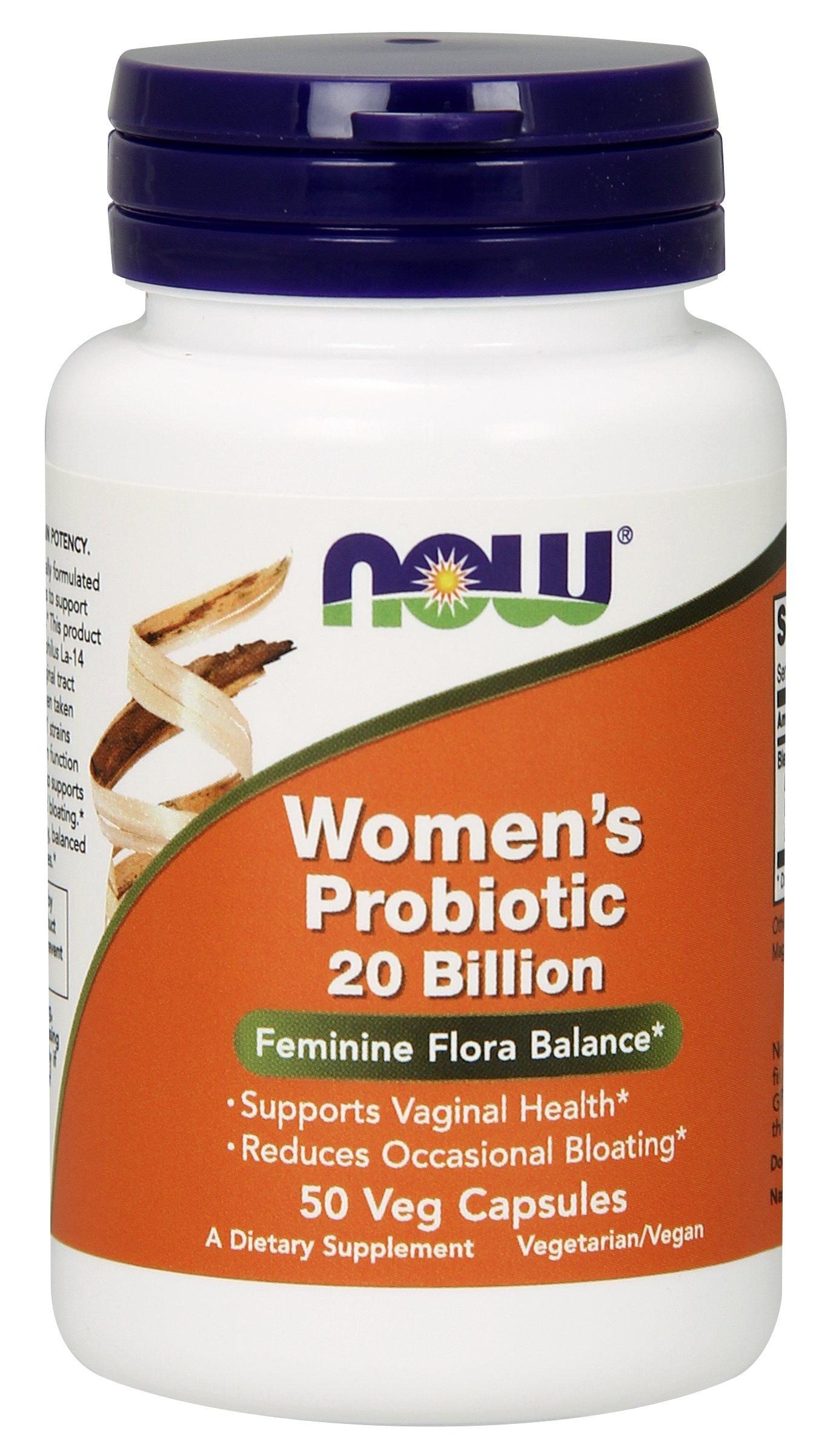 NOW Women's Probiotic 20 Billion, 50 Veg Capsules