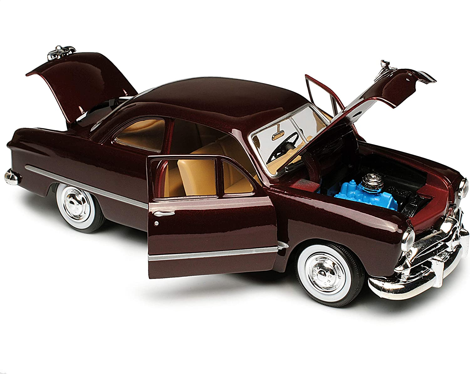 Ford 1949 Coupe Rot Braun Oldtimer 1//24 Motormax Modellauto Modell Auto