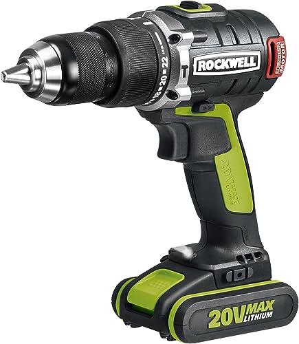 Rockwell RK2853K2 Li-ion Brushless Hammer Drill, 20V
