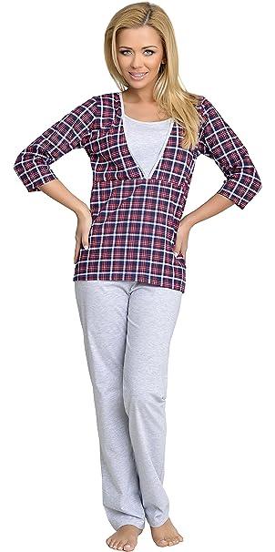 Be Mammy Mujer Lactancia Pijamas Dos Piezas Sandra: Amazon.es: Ropa y accesorios