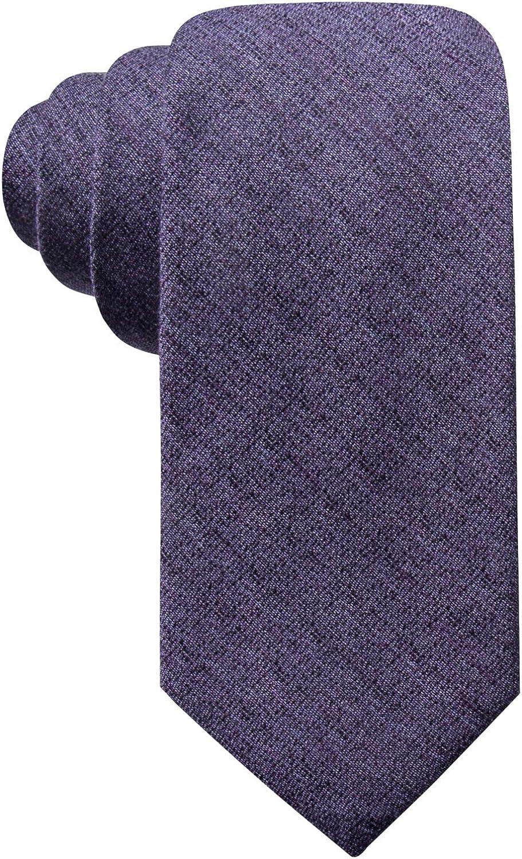 Bright Purple, 2 7//8 Ryan Seacrest Distinction Mens Tymon Seasonal Solid Slim Tie