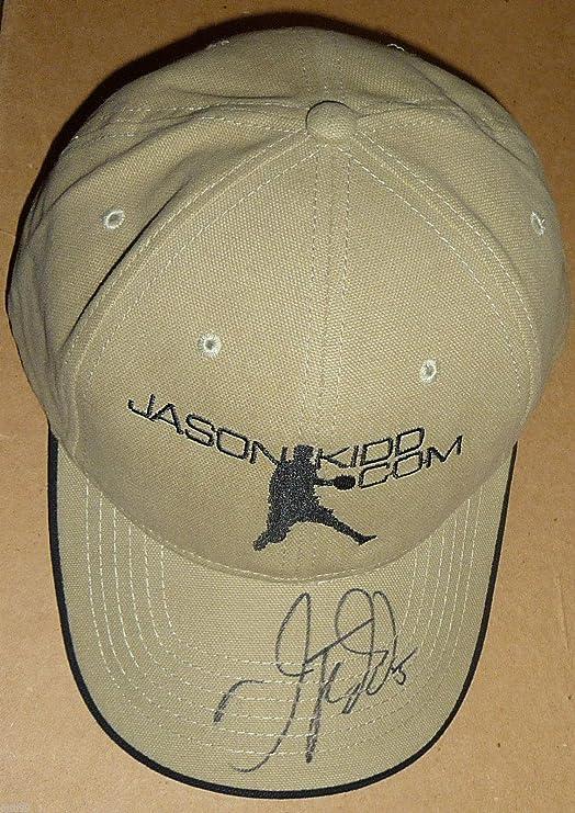 high quality size 40 quality JASON KIDD SIGNED jasonkidd.com CAP MILWAUKEE BUCKS BROOKLYN NETS ...