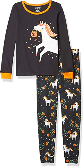 The Childrens Place Baby Girls Halloween Pajama Set