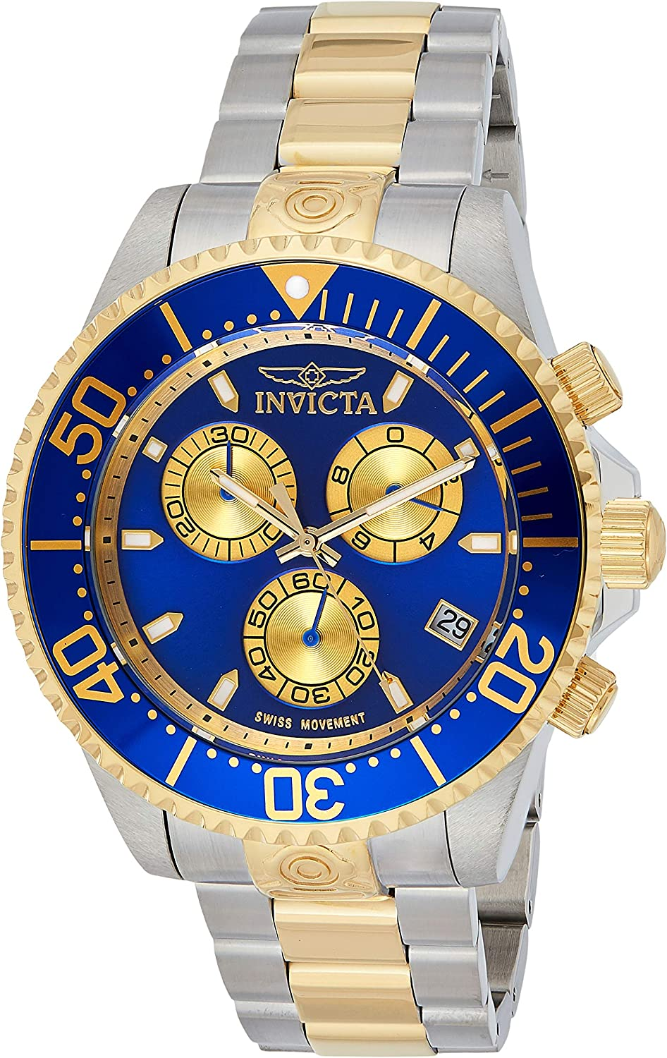 Invicta Men s Pro Diver Quartz Diving Watch with Stainless-Steel Strap