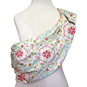 Mila Adjustable Baby Sling by The Peanut Shell - Coral Pink Floral