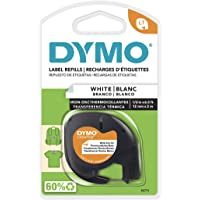 DYMO LT Iron-On Fabric Labels, 1/2-Inch x 6.5-Foot Roll, Black Print on White, Iron On, for LetraTag Printers