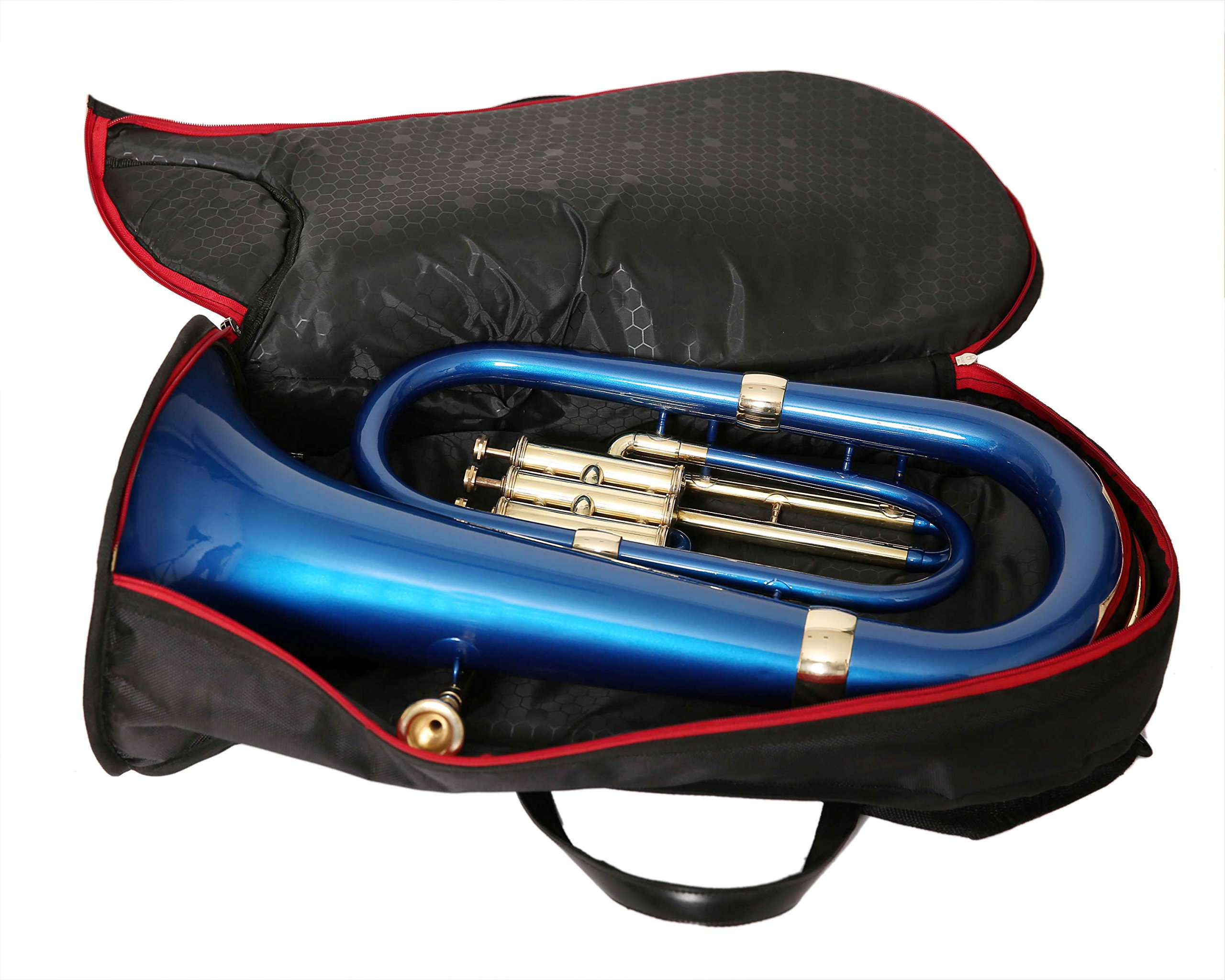MOONFLAG Euphonium Black lacquered and Brass polished Bb 3 valve with hard case by NASIR ALI (Image #5)