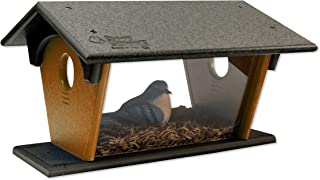 product image for DutchCrafters Poly Bluebird Feeder (Black & Cedar, Mounting Style - Post Mount)
