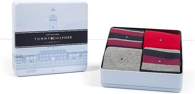 Tommy Hilfiger 4 Pares Hombre Calcetines Limited Edition Cabin Caja Regalo en Caja, Tommy Original: Amazon.es: Deportes y aire libre