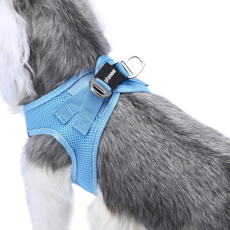 Petcomer Arn/és Perro Red Suave Chaleco Acolchado C/ómodo para Viajar Pasear con Mascota Peque/ña Gatito y Cachorro L-Pecho:48-58CM, Negro