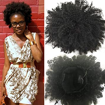 Amazon klaiyi fashion natural ponytail african american afro klaiyi fashion natural ponytail african american afro short kinky curly wrap drawstring ponytail synthetic hair pmusecretfo Choice Image