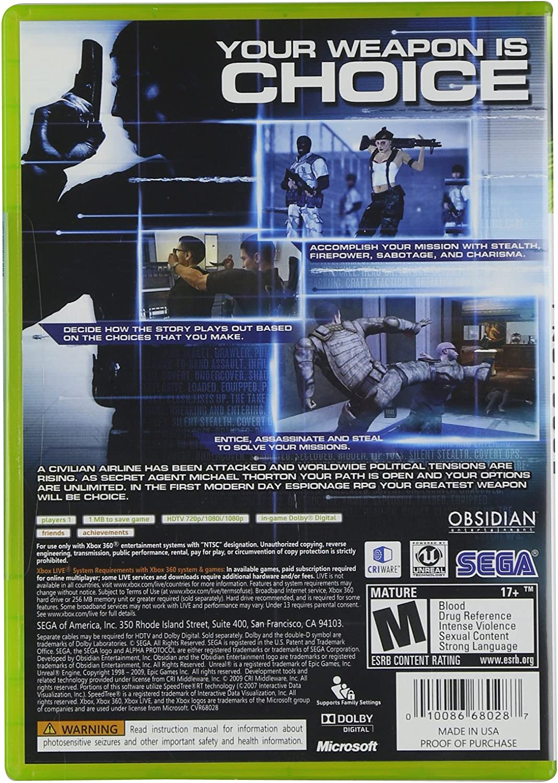 Amazon.com: Alpha Protocol - Xbox 360: Sega of America Inc ...