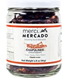 Chapulines (grasshoppers) - Gourmet edible insects from Oaxaca Mexico (Chipotle recipe) (Merci Mercado 2.8oz)