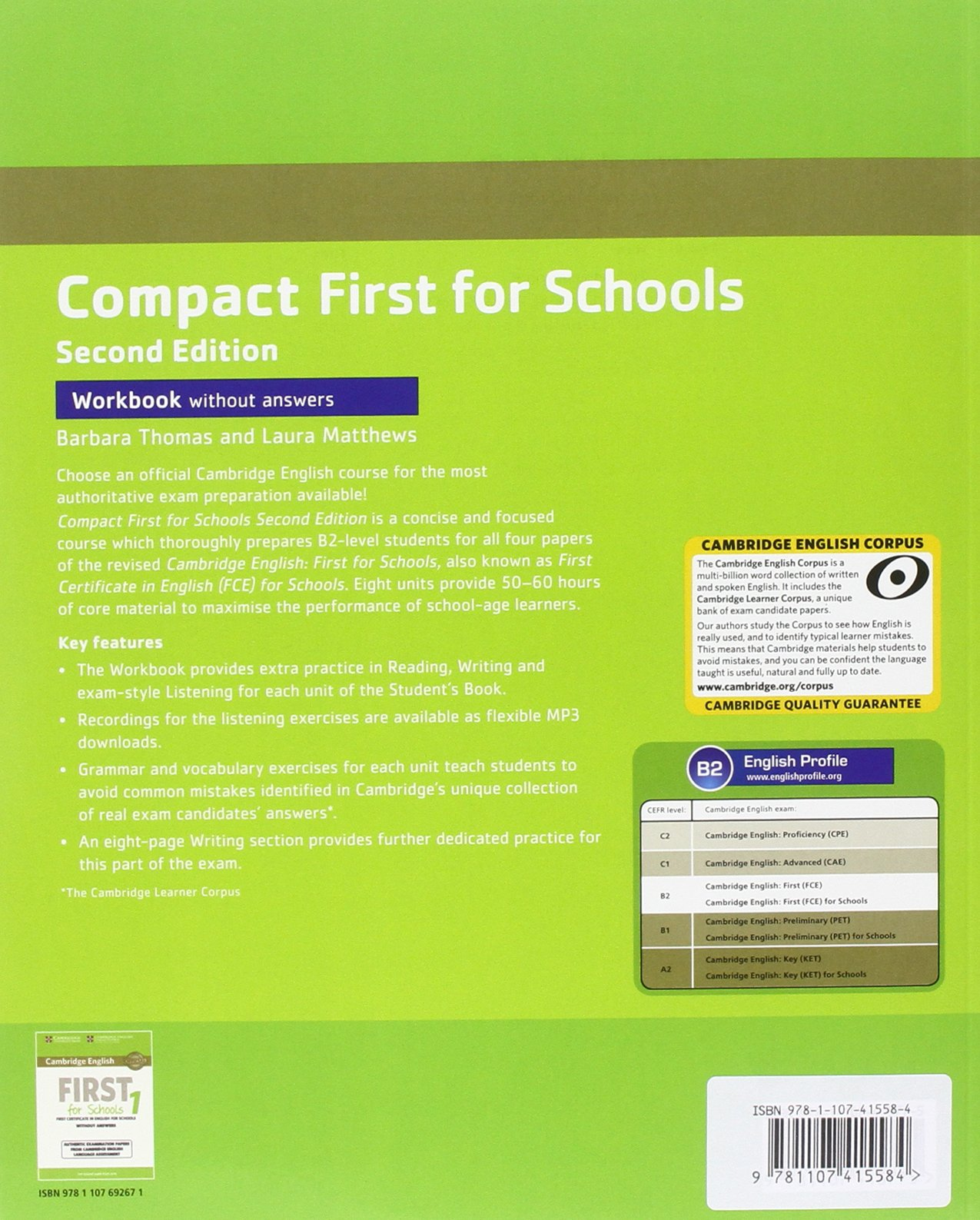 Compact First for Schools Students Pack Students Book without Answers with CD-ROM, Workbook without Answers with Audio Second Edition: Amazon.es: Thomas, Barbara, Matthews, Laura: Libros en idiomas extranjeros