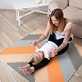 Hakuna Matte Stylische Puzzlematte für Babies und Kinder  +20% Dicker Spielmatte   Schadstofffrei, geruchlos, EN 71 und Formamid TÜV geprüft Spielteppich   48-teilig, 1,2x1,2m