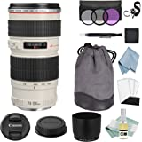 Canon EF 70-200mm f/4L USM Lens + Canon EF 70-200mm Lens Advanced Accessory Kit - Canon Lens Bundle Includes EVERYTHING You Need to Get Started