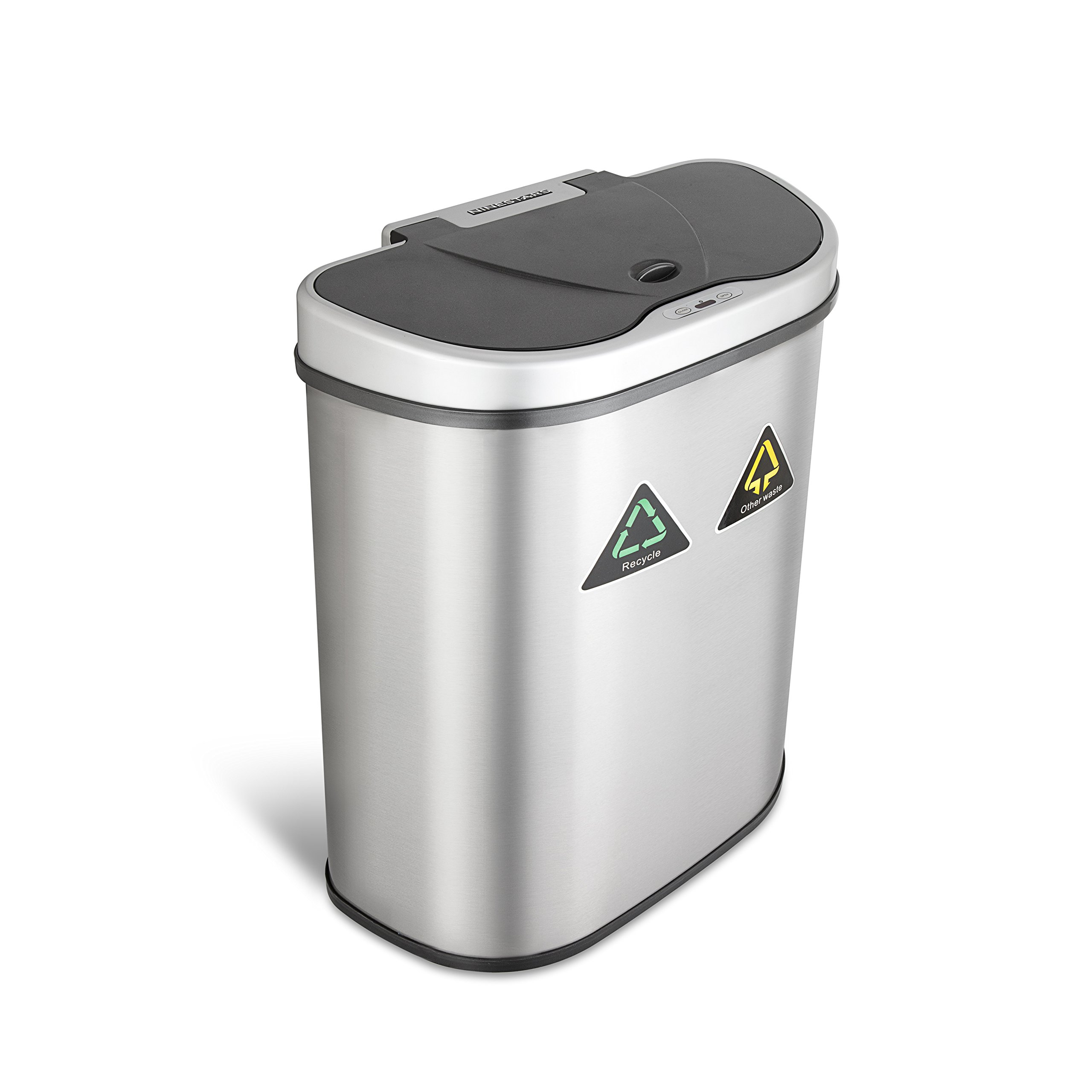 Sensor Trash Can Touch Free Garbage Bin Stainless Steel