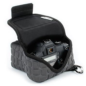 Funda de Cámara Digital | Estuche Semipermeable para Cámara Reflex por USA Gear | Bolsa Protectora DSLR para Nikon D3300 D750 D5300 D5500 Canon EOS ...