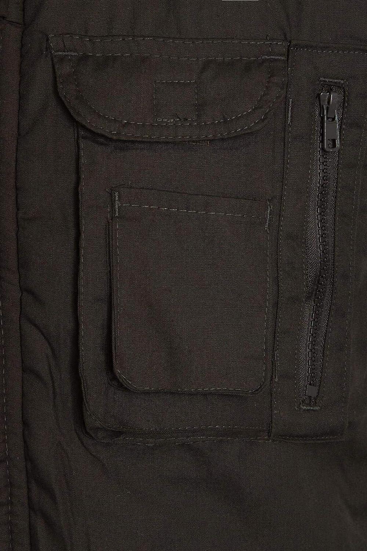 shelikes Mens Gilet Waistcoat Safari Multi Pocket Country Clothing Padded Waistcoat Zip Top