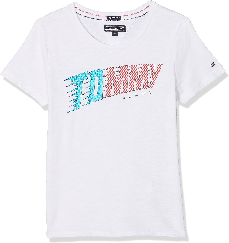 Tommy Hilfiger Ame Animated Logo tee S/S Camiseta para Niñas