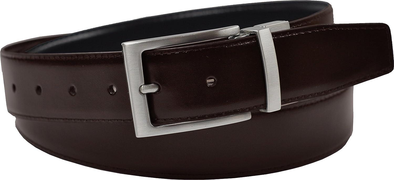 Ashford Ridge 34mm en caja de regalo Twist reversible del cintur/ón de cuero recubierto en Negro//marr/ón tama/ños de 80cm a 120cm