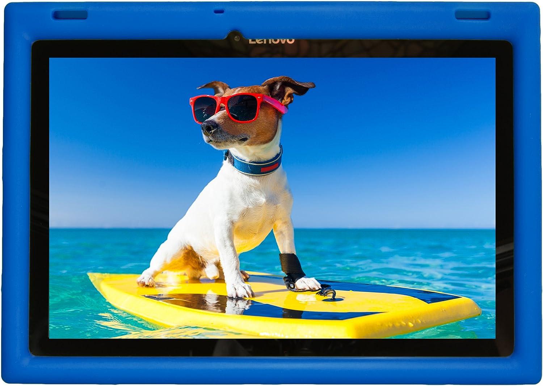 BobjGear Bobj Rugged Case for Lenovo 10 TB-X103F and Tab 2 A10-30, Tab2 X30F Custom Fit - Patented Venting - Sound Amplification - BobjBounces Kid Friendly (Batfish Blue)