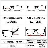 Computer Reading Glasses 0.5 Gray 2 Pack for Men