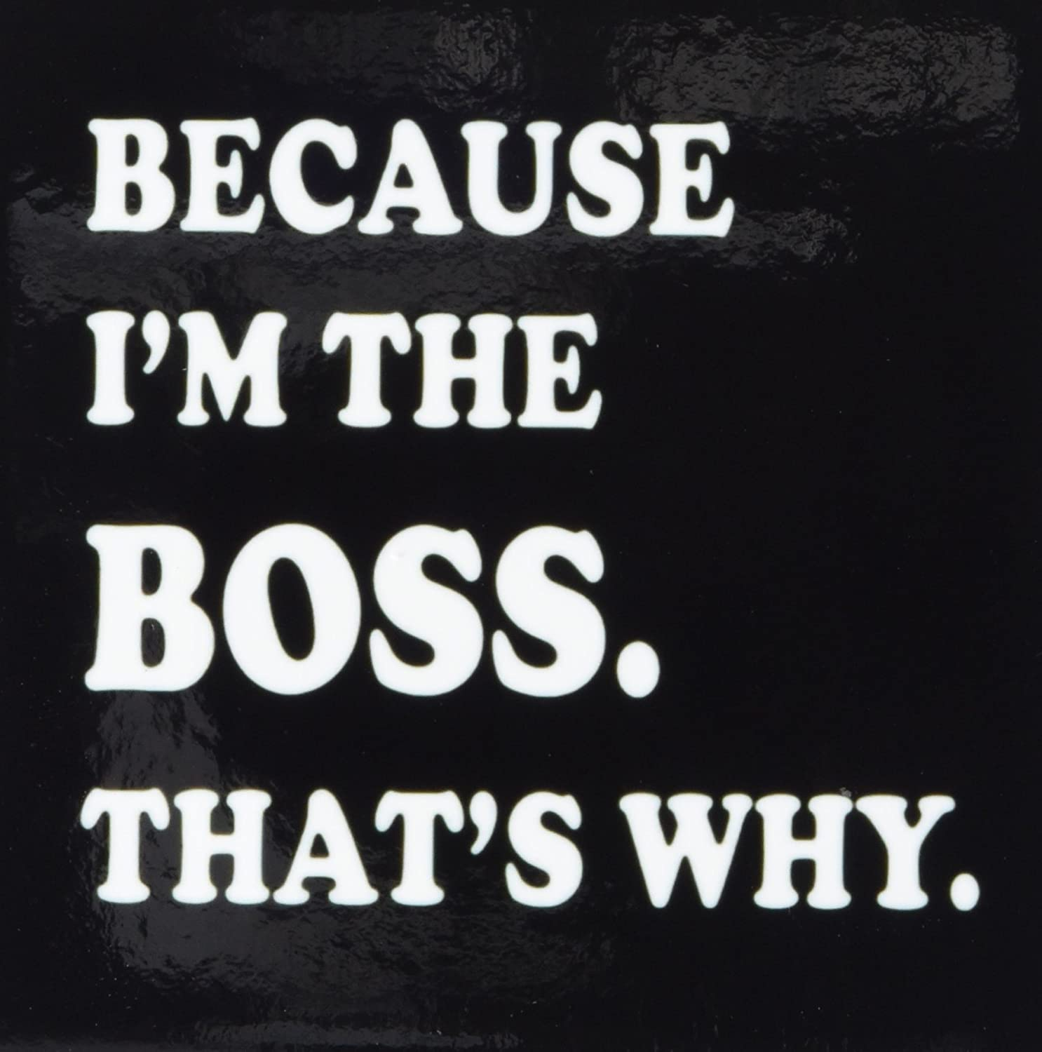 4 by 4-Inch Rikki Knight Because Im The Boss Thats Why on Black Design Art Ceramic Tile