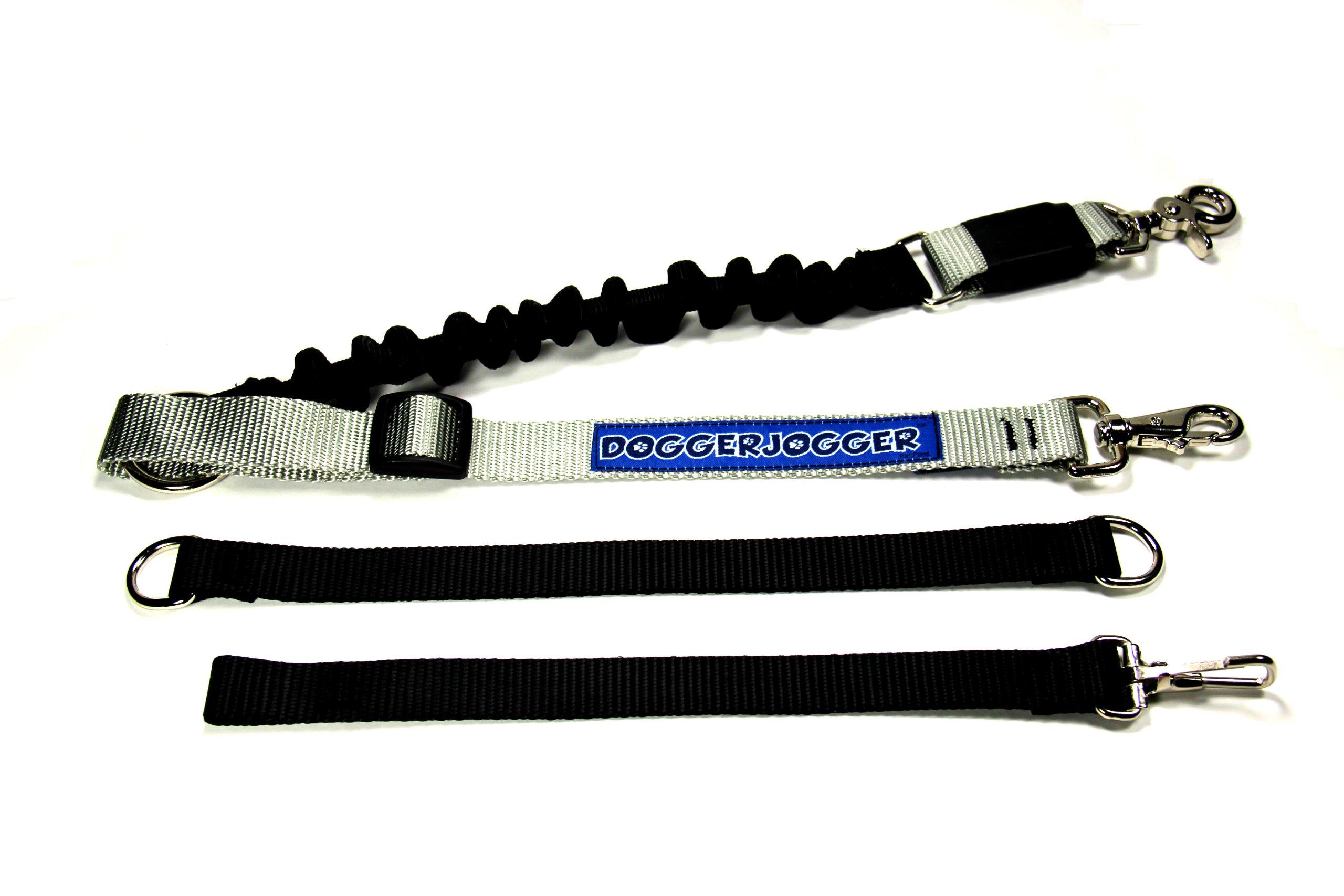 DoggerJogger Bike Dog Leash (Silver)