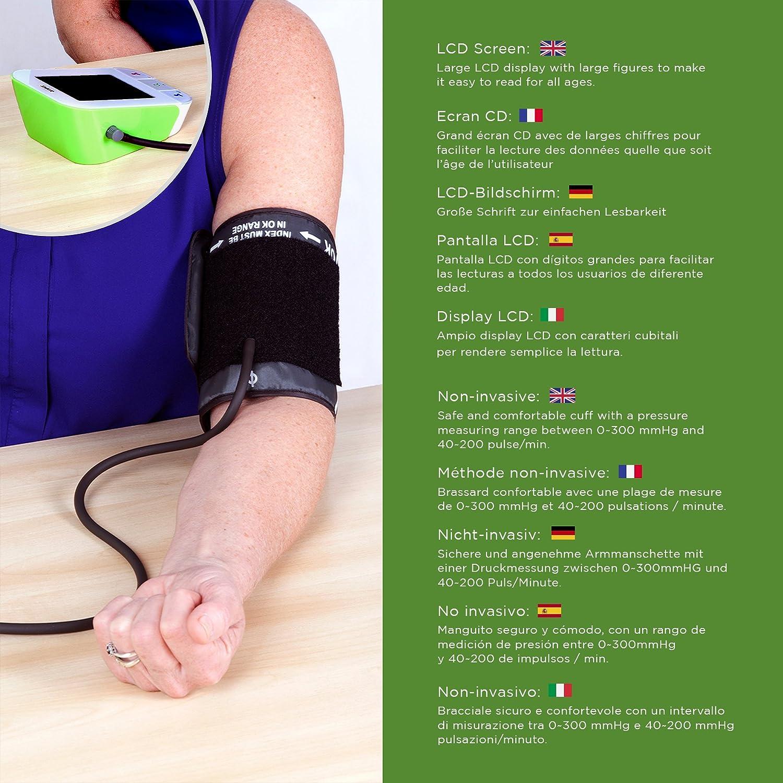Duronic BPM490 - Tensiómetro de brazo automático con Bluetooth (redes inalámbricas) Guarda hasta 2 perfiles de usuario: Amazon.es: Salud y cuidado personal