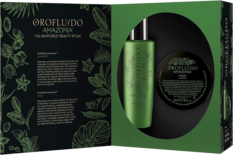 Revlon oro fluido amazonia beauty pack (shampoo+mask) l.e: Amazon.es: Belleza