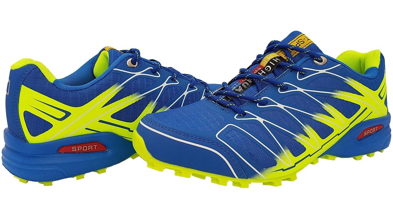 Unbekannt, Scarpe da Trail Running uomo, blu (Blau (Blau/Neongrün)), 44