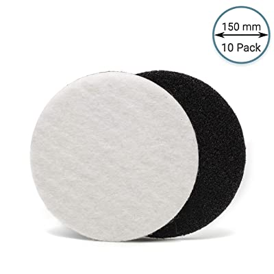 GP11010 Felt Polishing Pad Set for Polishing Glass, Plastic, Metal, Marble/Diameter 6 inch/Pack of 10 Pads: Home Improvement