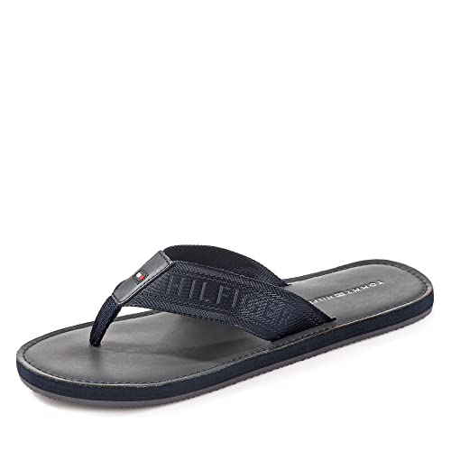 4b805a022 Tommy Hilfiger Jaquard TH Leather Beach Sandal - Midnight (Navy) Mens  Sandals 41 EU