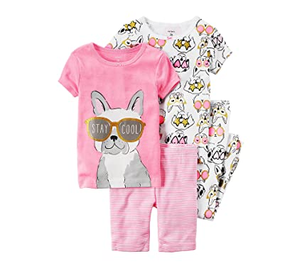 689d0a742102 Amazon.com  Carter s Girls  4-Piece French Bulldog Set 24 Months  Clothing