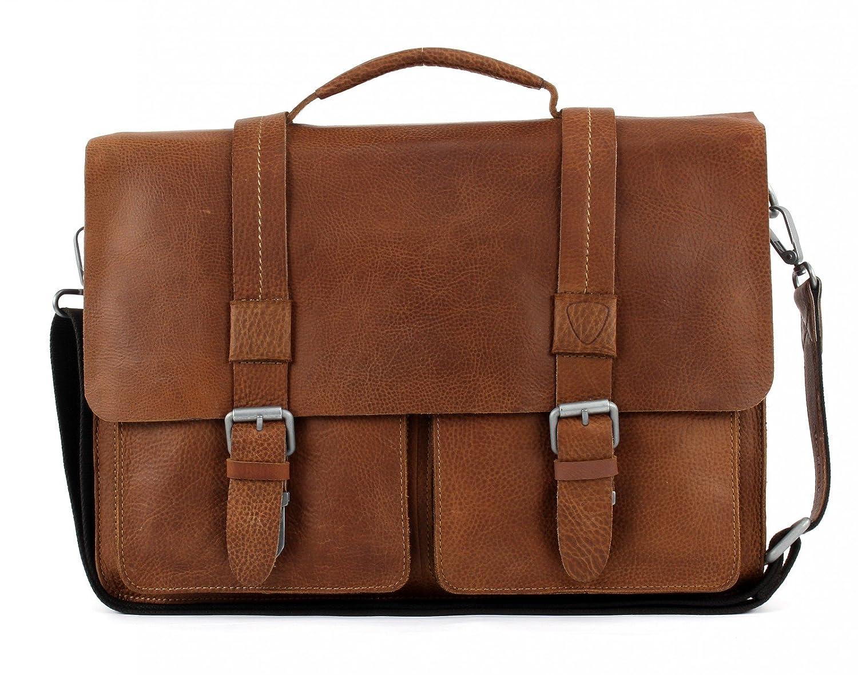 Strellson Unisex-Erwachsene messengerbag, Cognac (Marrone), Einheitsgrö ß e 4010001691-703