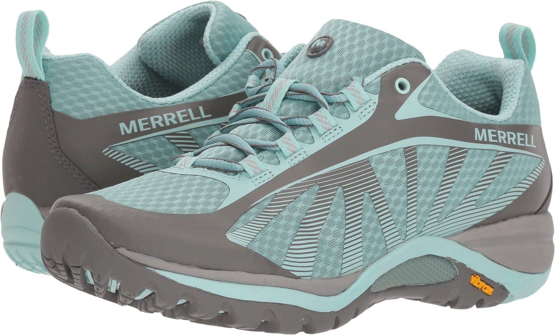 Merrell Womens Siren Edge Trail Runner, Bleached Aqua, 6.5 B(M) US